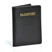 Protège passeport en cuir Travel blue